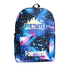135bce7068ab Laser Colorful Fortnite Printed Backpack Starry Sky School Bag Girl Boys  Students Bookbag Holographic Travel Shoulder Dda661