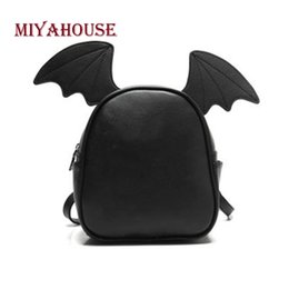 ffec6240e04 2019 FashionMiyahouse Fashion Small Leather Backpack For Teenage Girls Cute Female  Backpack With Three Pairs Of Ears Bat Wing Shoulder Bag
