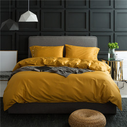 Yellow White Bedding Sets Australia - 4Pieces White Coffee Blue Silver Grey Queen King size Bedding set 100%Egyptian Cotton Soft Bedsheet set Duvet cover Pillowcase