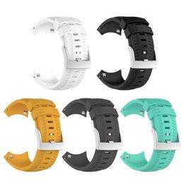 Силиконовый ремешок на запястье Ремешок для часов с пряжкой для Suunto 9 Спортивные аксессуары для часов Smart Watch Белый / Черный / Желтый / Серый / Зеленый