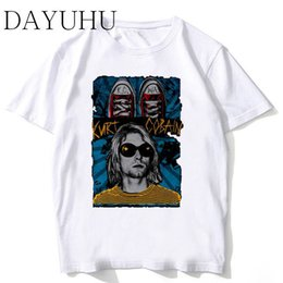nirvana top UK - Casual O-neck Character Soft Tee Nirvana New Arrivals Men Cool Printed Short Sleeve T-Shirt Male Cool Tops Men Funny Tshirt MR359