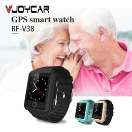 Ways Gps Australia - Accessories GPS Trackers Mobile Phone V38 GPS Tracker Watch For Elderly Children SOS Bracelet Remote Monitor Long Standby Time Two-way Call