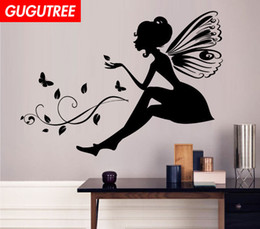 cartoon angels Australia - Decorate Home angel cartoon art wall sticker decoration Decals mural painting Removable Decor Wallpaper G-2029