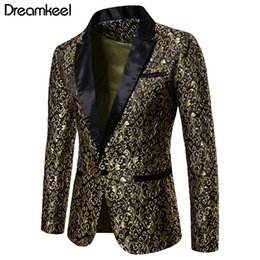 Wholesale dress black white men suit resale online - Slim Fit Blazer Men New Arrival Mens Floral Blazers Floral Prom Dress Blazers Elegant Wedding Blazer and Suit Jacket Men Y