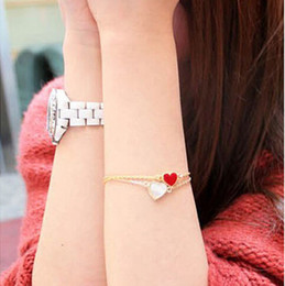$enCountryForm.capitalKeyWord Australia - Sl077 Hot Bangs Fashion New Heart Bracelets For Women Wedding Jewelry Accessories Wholesale Bijoux Bangle Cheap