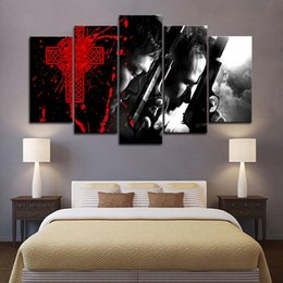 saints figure Australia - Framed 5pcs The Boondock Saints Movie Wall Art HD Print Canvas Painting Fashion Hanging Pictures Bedroom Decor