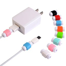 cable saver protector UK - Universal Saver USB Cable Protector Sleeve Android Mobile Phone Charger Cord Protector Cover Silicone for IPhone 7 6 Plus Line Protective