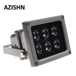 cctv accessories NZ - Cheap Accessories AZISHN CCTV LEDS IR illuminator infrared lamp 6pcs Array Led IR Outdoor Waterproof Night Vision CCTV Fill Light for