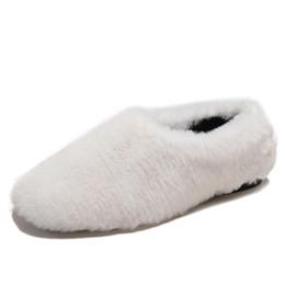 6535611d453 Fur Home Slippers Women Mules Plush Shoes Woman Warm Flats Winter Shoes  Indoor Flip Flop Women Soft Warm fluffy Slippers