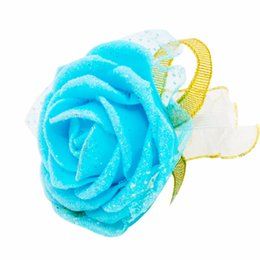 white roses bride hands 2019 - flower bob 6pcs Rose Wrist Corsage Bridesmaid Sisters Hand Flowers Artificial Bride Flowers For Wedding Party Decoration