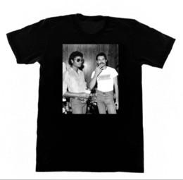 Michael jackson printed t shirt online shopping - Michael Jackson Freddie Mercury Tshirt Queen Pop LGBT Funny Cotton T Shirt fear cosplay liverpoott tshirt