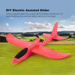 car power antennas Australia - DIY Electric Assisted Glider Foam Powered Flying Plane Rechargeable Electric Aircraft Model Educational Toys For Children