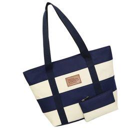 $enCountryForm.capitalKeyWord Australia - 2019 Women Beach Canvas Bag Fashion Color Stripes Printing Handbags Ladies Large Shoulder Bag Totes Casual Bolsa Shopping Bags