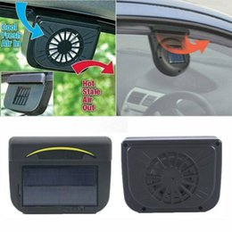auto cool car solar fan Canada - New Solar Powered Car Fan Air Vent Cool Fan Auto Cooler Ventilation System Exhaust Dual-mode Power Supply High-power