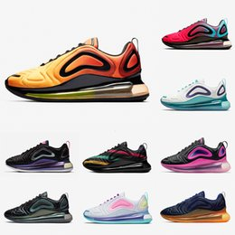 teal laces Australia - Sunrise Spirit Teal Psychic Powder Pale Vanilla Sea Forest Fuel Orange Running shoes men women Triple black Mens trainers Sports sneakers