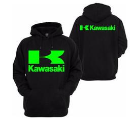 2019 Kawasaki dos homens de alta qualidade dos homens roupas de motocicleta cavaleiro pullover moletom com capuz casual K em Promoção