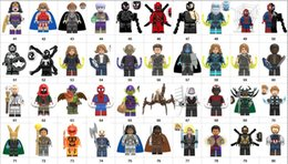 batman figure wholesale NZ - Wholsale Super heroes Mini Figures Marvel Avengers DC Wonder woman Deadpool Batman Thor Ironman Spiderman building blocks kids toy gifts