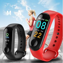 $enCountryForm.capitalKeyWord Australia - M3 Smart Bracelet Color-screen IP67 Fitness Tracker blood pressure Heart Rate Monitor Smart band For Android IOS phone M3 Wristbands