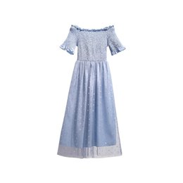 Girls Lace Dress Shoulder Hollow Out Australia - 2019 Summer Trend Off-shoulder Sleeve Dress for Women Fashion Sexy Sweet Girl Dress Short Sleeve Strapless Dresses