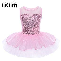 $enCountryForm.capitalKeyWord NZ - Iiniim Girls Ballerina Party Costume Sequined Reflective Flower Dancewear Gymnastic Leotard For Kids Ballet Tutu Dress Q190604