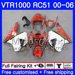 rc51 fairing kit Australia - Kit For HONDA VTR 1000 RC51 2000 2001 2002 2003 2004 2005 2006 257HM.50 RTV1000 SP1 SP2 VTR1000 00 01 02 03 04 05 06 Fairing white red hot