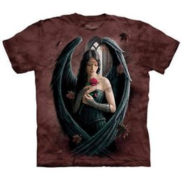 $enCountryForm.capitalKeyWord NZ - The 2019 ANGEL ROSE T Shirt Fairy Bla2019 Wings Goddess Medieval Tee S- 5XL
