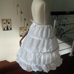$enCountryForm.capitalKeyWord Australia - 2019 Hot Sale Three Circle Hoop White Girls' Petticoats Ball Gown Children Kid Dress Slip Flower Girl Skirt Petticoat Free Shipping