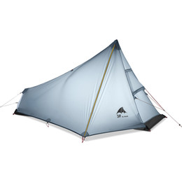 construction gear Australia - 3F UL GEAR Single Person Tent Oudoor Ultralight Camping Tent 3 Season Professional 15D Nylon Silicon Coating Rodless 740g
