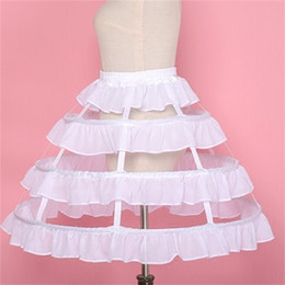 short crinoline wedding dress NZ - New Style Petticoats 3 Hoops Short Ruffle Underskirt Crinoline for Wedding Bride Formal Dress White Black Wedding Accessories
