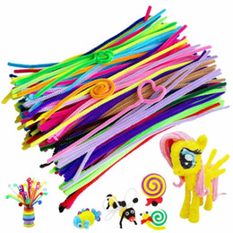 $enCountryForm.capitalKeyWord Australia - New Fashion Colorful Chenille Stems Plush Stick Kids DIY Art Craft Decorations Fashion Chenille Stems Plush Stick