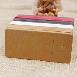 100pcs 4 * 9cm kraft / noir / rose vif / papier blanc blanc bijoux affichage carte carton boucle d'oreille paquet étiquette volante en Solde