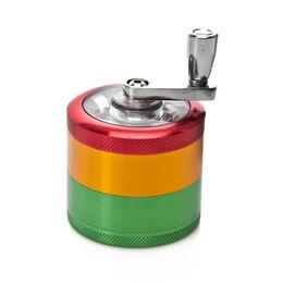 $enCountryForm.capitalKeyWord Australia - Cross-border spot hand grinder 50mm 4-layer rocker smoke crusher red-yellow-green color matching grinder