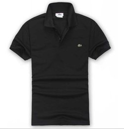 LACOSTE Hot Shirt Shirt Design Homme Été Turn-Down Col Manches Courtes Coton Shirt Hommes Haut en Solde