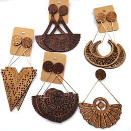 Опт Бесплатная Доставка!!африканская капля деревянные серьги можно смешать 5 конструкций