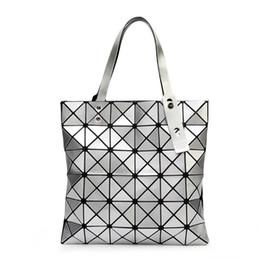 Designer Logo Handbags NZ - Designer-{Original Logo} Handbag Female Folded Geometric Plaid Bag Fashion Casual Tote BAO BAO Women Handbag BaoBao Bag Mochila Shoulder Bag