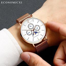 $enCountryForm.capitalKeyWord Australia - Watch Men Fashion Simple Stainless Steel With Luminous Small Dial Men's Quartz Watch Montre Homme Relogio Masculino