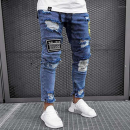 light color clothes Canada - Solid Color Fashion Style Homme Clothing Light Blue Casual Apparel Mens New Designer Jeans Pants Hole