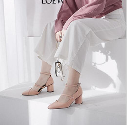 $enCountryForm.capitalKeyWord Australia - New Kind of Korean High-heeled Sandals with Leather Point Pack and Side Hollow Belt