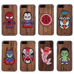 Wood Iphone Case Dhl Australia - DHL Embroidery Wood Superman Bumper Phone Case For Apple Iphone XS Max XR X 8 7 6 Plus Full Body Protection Cellphone Back Cover 15 Styles