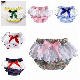 toddler ruffle shorts bloomers Australia - 2019 baby girls shorts lace ruffle bloomers kids boutique clothing infant girl clothes toddler cherry printed striped floral shorts pp short