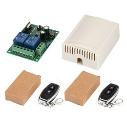Discount 433 mhz module - 433Mhz Universal Wireless Remote Control Switch AC 85V 110V 220V 2CH Relay Receiver Module & RF 433 Mhz for Light Switch