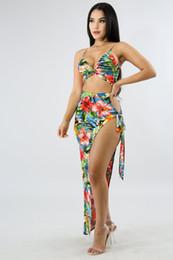 $enCountryForm.capitalKeyWord Australia - Women's Designer Dresses Sexy Print Contrast Color Beach Nightclub Woman Two-piece Suit Sling Stitching Irregular Summer Skirt Size S-XL