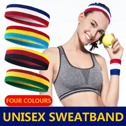 $enCountryForm.capitalKeyWord Australia - New Headband Women Men Cotton Sweat Sweatband Headband Yoga Gym Stretch Head Band for Sport Elasticity Sweat Bands Sports Safety
