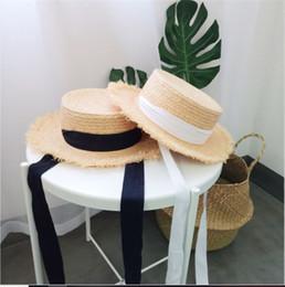 Flat Summer Straw Hat Australia - 2019 Hot Sales Lafite Straw Hat Female Summer Sunshade Travel Flat-topped Cap Hairside with Sunscreen Cap