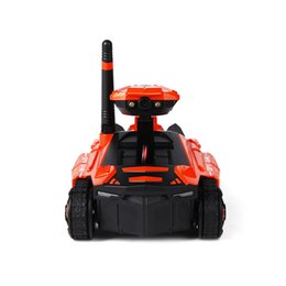 remote camera systems UK - RC Tank with HD Camera ATTOP YD-211 Wifi FPV 0.3MP Camera App Remote Control Tank RC Toy Phone Controlled Robot Model Toy Gifts