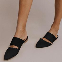 $enCountryForm.capitalKeyWord Australia - Litthing Summer Simple Pointed Toe Flat Mule Slippers Leopard Slides Holidays Sandals Ladies Shoes For Women 2019 Slingbacks
