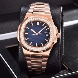 $enCountryForm.capitalKeyWord Australia - Rose Gold LUXURY WATCHES diamond high quality automatic mechanical watch stainless steel strap blue dial nautilus men mens watch watches