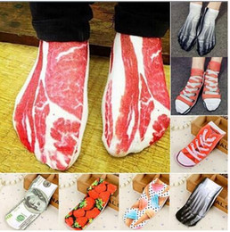 unique socks Australia - Fashion Pop Unique New Painting Art Men 3D Women Socks Funny Novelty Pork Animal Vintage Retro Cotton Socks