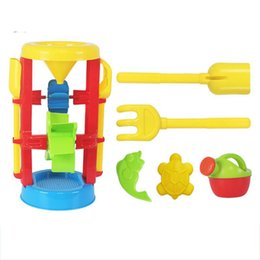 Tools Play Sand Australia - Children's Beach Sand Playing Toys Set Hourglass Cart Duckling Bucket Toy Smooth Non-toxic Plastic Bath Water Playing Tool Suit