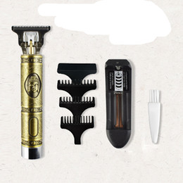Wholesale bikini men resale online - Close cutting Digital Hair Trimmer Rechargeable Electric Hair Clipper Gold Barbershop Cordless mm T blade Baldheaded Outliner Men VS Kemei